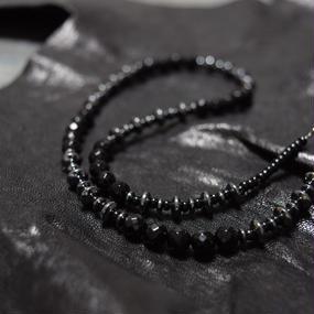 """オニキス ショートスピーナネックレス""""ONYX short spina necklace"""""""