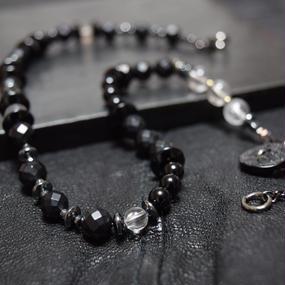 """フロストオニキスダブルラップ ブレス""""FROSTONYX double wrap bracelet"""""""