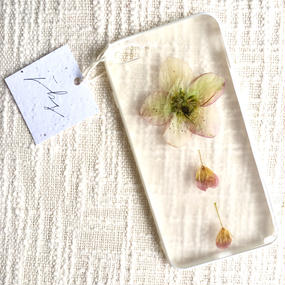 フローラル i phone7Plus case  (ホワイト)③