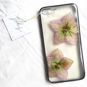 フローラル i phone7Plus case  (ブラック)③
