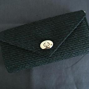 ≪受注販売≫『働く女性』のための究極のお財布バッグ(ブラック×ネイビー)