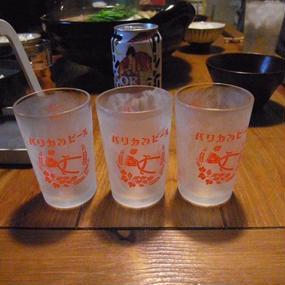 `赤い三連星` 瓶ビール専用グラス V.A.L.S キリンレッドver