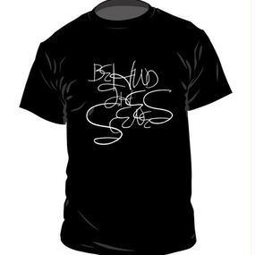 Behind the scenes Original Logo T-shirts〈Black〉
