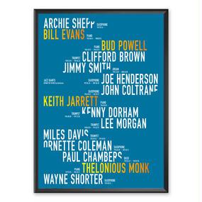 Jazz Giants Series Typography
