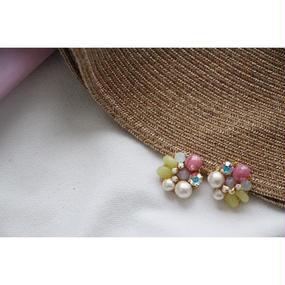Pearl pink ×lemon jade bijou