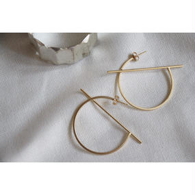 K16GP  matte simple hoop Pierce