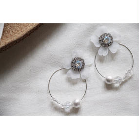 Crystal  flower hoop