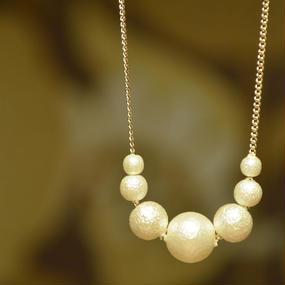 コットンパール ゴールド 7粒 ネックレス