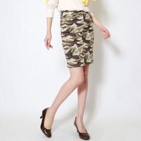 カモフラージュストレッチタイトスカート(カモフラ2/S~LL)