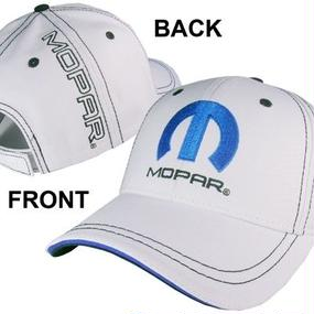 White Contrast Stitched Cap