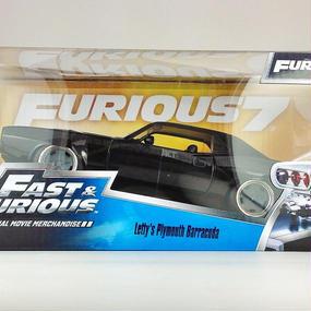 【Jada FURIOUS7  FAST&FURIOUS】 Lett's Plymouth Barracuda