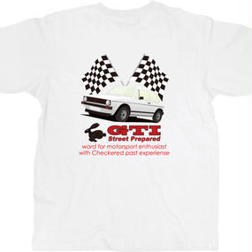 SP035W GTI white T-shirt