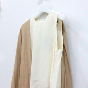 muller of yoshiokubo /  TWO LAYER CAPE DRESS / MLF16602
