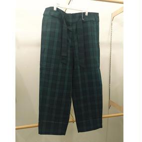 ohta / check maki pants / 17ss-pt-05C