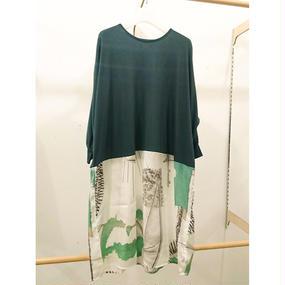 ohta / green cutdress / 17ss-op-07G