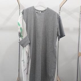 ohta / light gray one piece / 17ss-op-02L