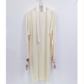 ohta / white long dress / 16aw-op-04W