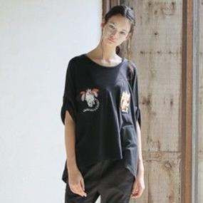 bed side drama / キメラ刺繍Tシャツ / BSD17SS-16