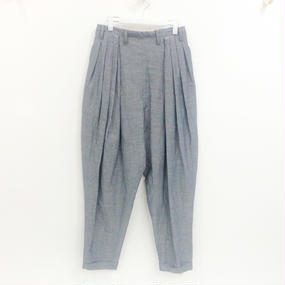 ohta / navy tucks pants / 16ss-pt-04N