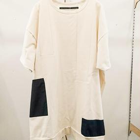 my beautiful landlet / dyed knitted fabric switching T-shirt / WM10-CS17102