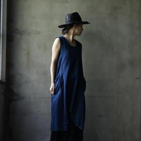 Tabrik タブリク / 藍染ワンピースAizen one-piece / ta-17017