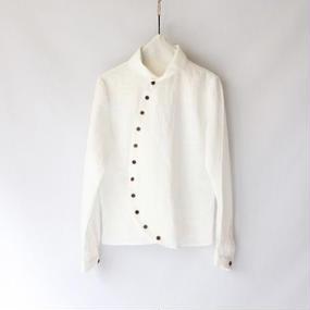 cavane キャヴァネ / ラウンドボタンシャツRound button shirt / ca-16001
