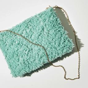 mintgreen fur bag