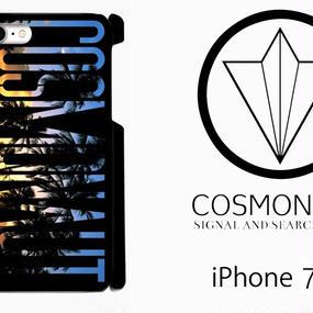 "LOGO  ""SUNSET  PALM"" BLACK iPHONE CASE"