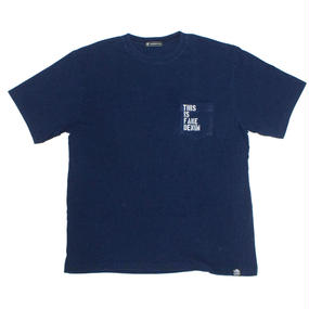 THIS IS FAKE DENIM DARK INDIGO POCKET UNISEX TEE