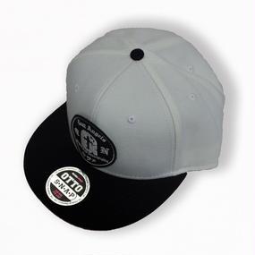GRAVESTONE SNAPBACK CAP WHITE x BLACK