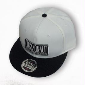 LOGO SNAPBACK CAP WHITE x BLACK