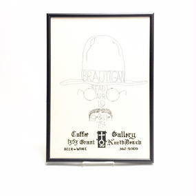 "Richard Brautigan Handbill Poster  ""Coffee Gallery"""