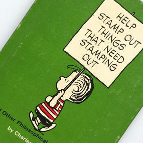 Title/ Help Stamp Out Things That Need Stamping Out  Author/ Charles M.Schulz
