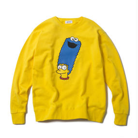 MARGE MONSTER CREWNECK (YELLOW) : ARTWORK by JEROEN【CC17SS-001】