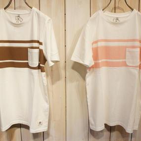 【NANEA】天竺・胸ポケットグラデーションボーダー/Tシャツ