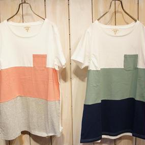 【NANEA】【カラバリ豊富】天竺・ギャザー入りデザインTシャツ