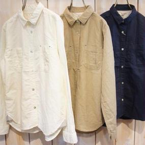 【NANEA】綿麻平織り・シャツ