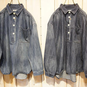 【NANEA】エアレットデニム・ドロップショルダービッグシャツ