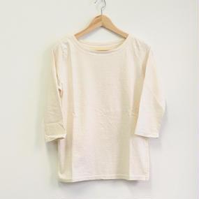 【NANEA】7分袖 ボートネックTシャツ