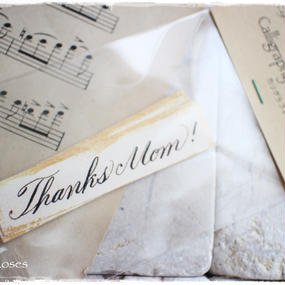母の日用カリグラフィーメッセージタグ「Thanks Mom!」10枚入り 税・送料込み
