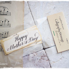 母の日用カリグラフィーメッセージタグ「Happy Mother's Day」10枚入り 税・送料込み