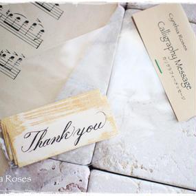 カリグラフィーメッセージタグ「Thank you」10枚入り 税・送料込み