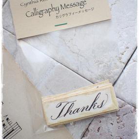カリグラフィーメッセージタグ「Thanks」10枚入り 税・送料込み