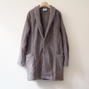 THING FABRICS   Collar Coat(long pile)   Gray