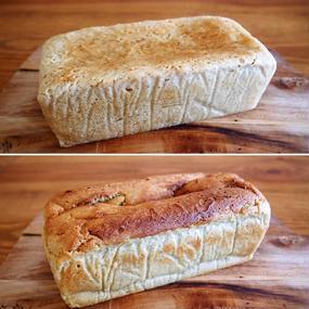 ひよこ豆粉&ホワイトソルガム ふわふわどっしり&しっとりずっしりグルテンフリーブレッド