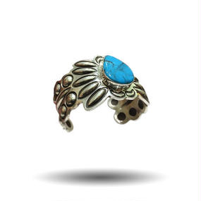 ALEX SANCHEZ TURQUOISE SILVER BANGLE