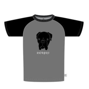 Tシャツ「ドル」 グレイ×ブラック
