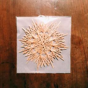 竹のオーナメント大:綿糸