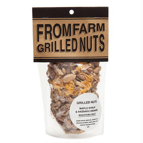 GRILLED NUTS ( ミックスナッツ )  - MAPLE SYRUP&HASSAKU ORANGE ( メイプルシロップ&はっさく ) 180g