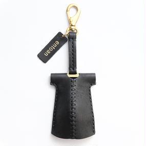 ブラックポッコリキーケース(ブラック×ブラックの糸)